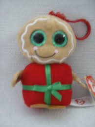 ty beanie boos bag clip gingerbread man sweetsy christmas