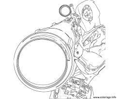 Coloriage deadpool sniper precision  JeColoriecom