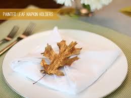 asian dish ring holder images Painted leaf napkin rings crate kids blog jpg