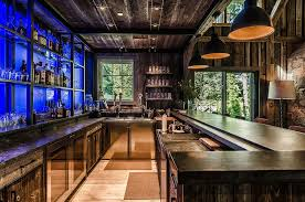 Rustic Bar Lights Bar Lighting Ideas Deck Contemporary With Potted Plants Round Bar