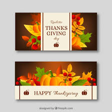 thanksgiving banners set vector free