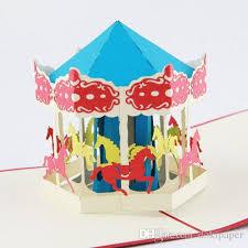wedding carousel pop up 3d card handmade gift carousel 3d