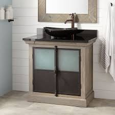 36 vessel sink vanity 36 garton oak vessel sink vanity gray wash oak bathroom