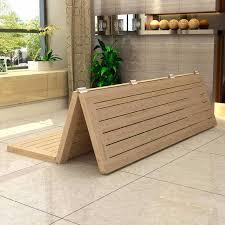 Wooden Folding Bed Xuan Pine Wood Folding Wood Bed Frame Mattress 15 Single