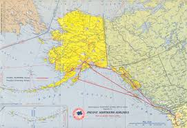 Alaska Flight Map by The Airplane Years