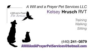pet prayer a will and a prayer pet services llc home