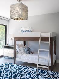 boys bedroom rugs modern boys bedroom with two tone bunk beds and blue diamond pattern