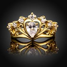 beautiful golden rings images Megrezen women 39 s wedding rings beautiful gold color engagement jpg