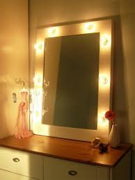 makeup mirror with light bulbs around it vanity decoration