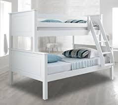 Happy Beds Vancouver Bunk Bed Triple Sleeper White Solid Pine Wood - White bunk beds uk