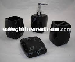 Black Bathroom Accessories by Marble Bathroom Accessories Black Square Marble Bathroom