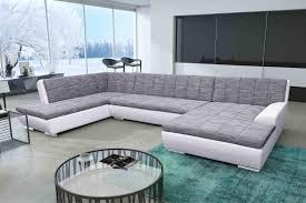 sofa grau weiãÿ u form wohnlandschaft grau weiß wohnen polstermöbel