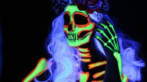 glow in the makeup uv glow in the skeleton makeup imgur