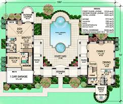 Unique Courtyard Living 36313tx Architectural Designs House House Plans With Lanai