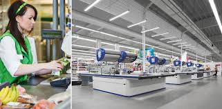 Supermarket Cash Desk Stimulating Supermarkets Smart Lighting Engineering