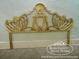 hollywood regency vintage gilt metal french style king size bed