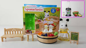 fruit bar sylvanian families review how to make a smoothie youtube
