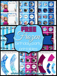 disney u0027s frozen party printable set free