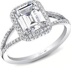 engagement rings diamond sylvie split shank diamond engagement ring in platinum sy289