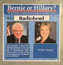 Thom Yorke Meme - how do hillary and bernie differ on the issues that really matter
