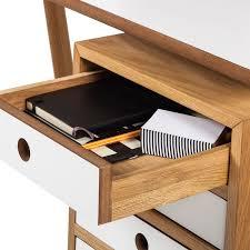 Schreibtisch 55 Cm Tief Schreibtisch Why Wood Weiß Eiche Bürotisch Arbeitstisch