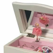 Children S Jewelry Elegant Children U0027s Musical Jewelry Box In Ivory Colored Wood