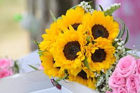 wedding flowers sunflowers free photo flower sunflowers wedding flowers gold max pixel