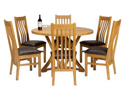 round dining table with six chairs 48in rosewood flower and bird oak 120cm round dining table 6 chelsea brown leather oak chair set