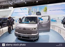 electric volkswagen van vw et electric transporter concept van at the iaa international