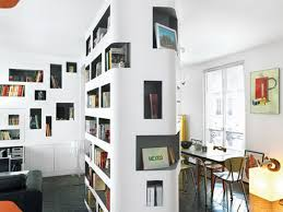 apartment casual ideas in apartment with wall mounted bookcase