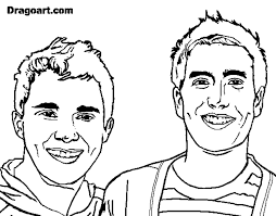 coloring page big time rush color online coloringcrew 542087