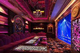 purple picture 3d ktv room night interior design
