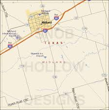 midland map midland county color map