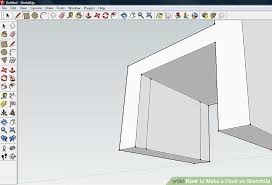 How To Make A Floor Plan In Google Sketchup by How To Make A Chair On Sketchup 9 Steps With Pictures Wikihow