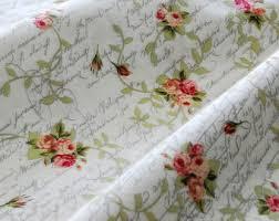 shabby chic fabric etsy