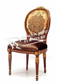 Italian Design Elegant Walnut Solid Wood Frame Antique Dining - Italian design chairs