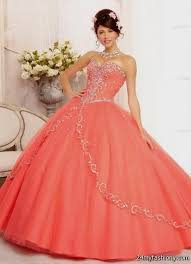 coral quince dress quinceanera dresses coral 2016 2017 b2b fashion