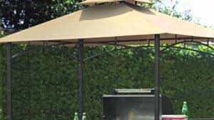 Garden Winds Pergola by 8x5 Bamboo Look Bbq Gazebo Replacement Canopy Youtube