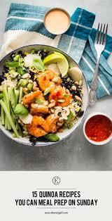 thanksgiving quinoa recipes 15 quinoa recipes you can meal prep on sunday the everygirl