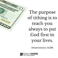 the promise purpose place and day for tithing