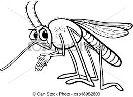 vector clipart mosquito insect coloring black white