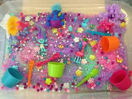 thanksgiving sensory bin trolls sensory bin sensory play pinterest activities