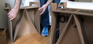 how to turn leftover cardboard boxes into sturdy chairs and