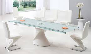 White Leather Dining Room Set Dining Room Luxury Oval White Dining Table Design With