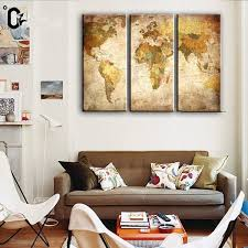 canvas print wall art canvas painting for home decor world map