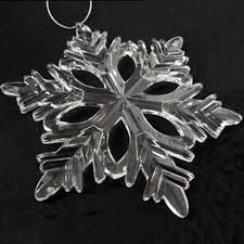 6 clear 5 inch acrylic snowflake ornaments
