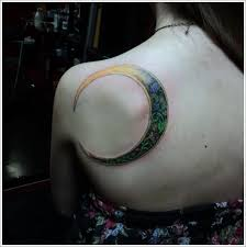 girly moon on back shoulder jpg 600 605 varnish ink