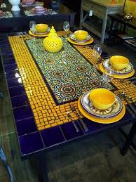 White Tile Kitchen Table by Best 25 Mosaic Tables Ideas On Pinterest Mosaic Mosaic Table
