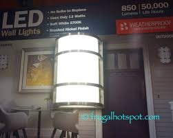 costco led can lights feit electric led wall lights 2 pack costco frugalhotspot decor