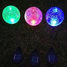 Ball Solar Lights - amazon com solar colorful ball globe light black05r solar